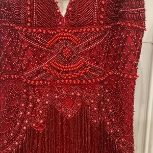 Sherri Hill Size 2 red formal gown